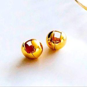 🍒3/$30 New Gold Ball Huggie Earrings